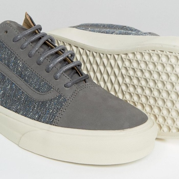 VANS - tweed old Skool gray fashion sneakers 63a3c17b8